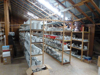 pottery studio equipment and molds for sale