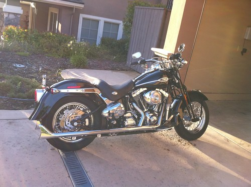 PRIVATE SELLER - 2006 Black Harley Springer Softtail with Low Miles!