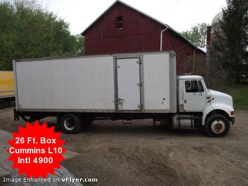Nissan Dealers In Wisconsin >> Used 1993 International 4900 L10 Cummins 26ft. Box Truck ...