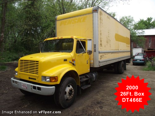 2000 International 4900 DT466E 26ft. Box Truck - SEE VIDEO!