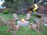 Firepit off Deck