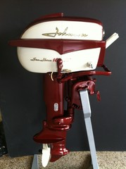 1958 18 hp johnson sea horse restored outboard motor for 4 horse boat motor