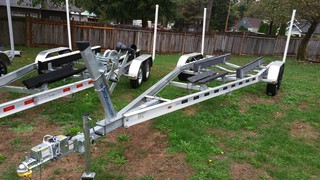$4,950, **IN STOCK** New 2017 6,000# boat wt Double Axle Aluminum Boat Trailer for 21-24ft boat COM-6000