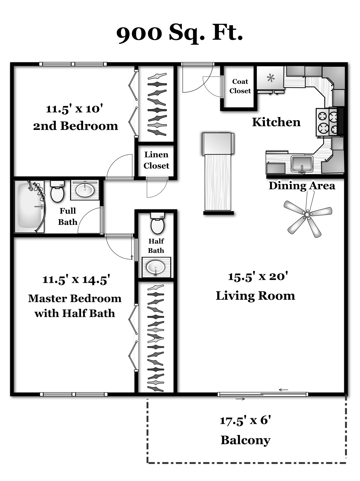2 br 1 5 ba floor plan fairway country club apartments