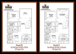 Sarasota Bella Villino Condominiums Floor Plans