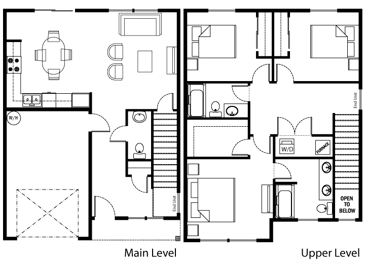 Unit B Floor Plan Royal View Townhomes