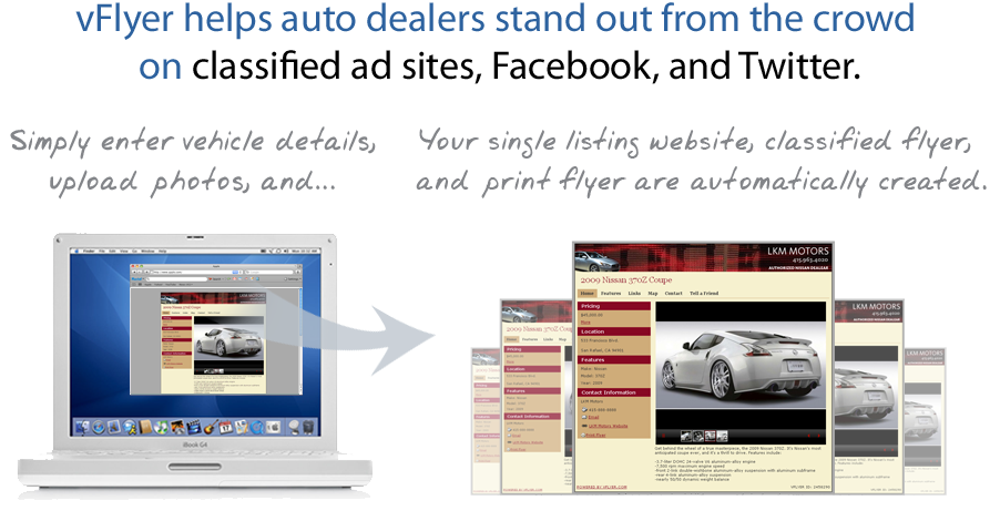 vFlyer helps auto dealers stand out from the crowd on sites like Facebook, Twitter