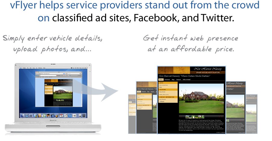 vFlyer helps service providers stand out from the crowd on sites like Facebook, Twitter
