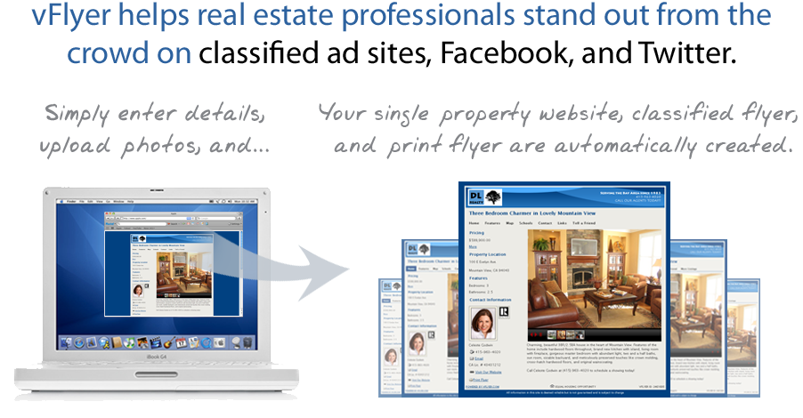 vFlyer helps real estate professionals stand out from the crowd on sites like Facebook, Twitter