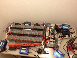 Here Is A Battery Pack Partially Disembled During The Balancing Process